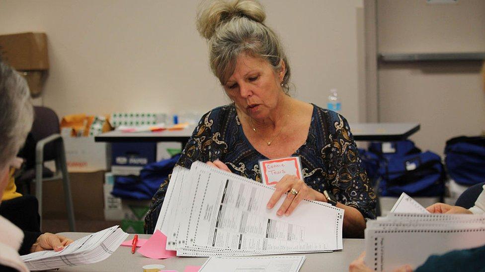Recuento de votos en Kenosha Wisconsin, en 2016