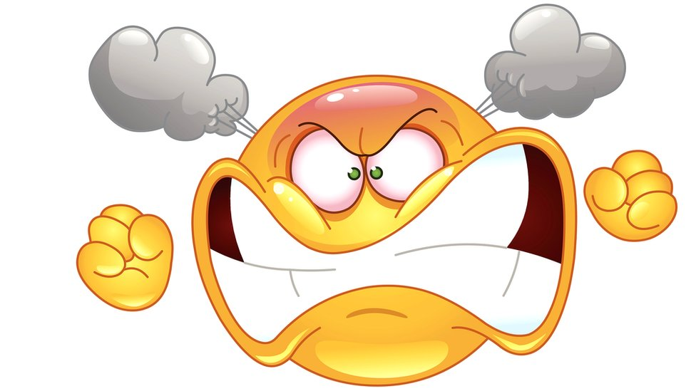 Emoticón furioso