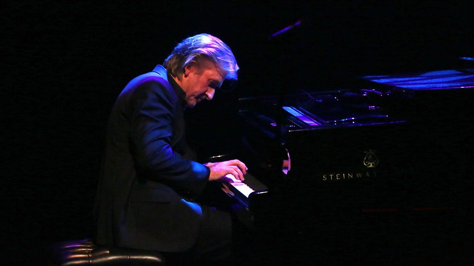 classical pianist Barry Douglas performs at 'Imagining Ireland' a musical conversation between Ireland and England through the songs of the last hundred years at Southbankcentre's the Royal Festival Hall on April 29, 2016 in London