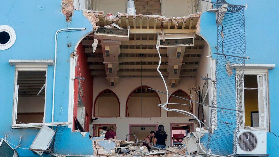Edificios afectados Beirut