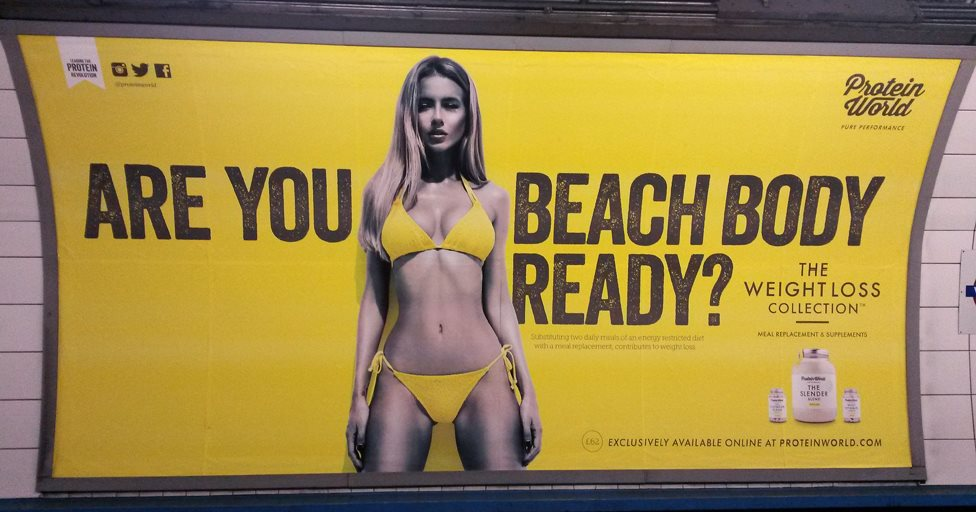The controversial Beach Body poster from 2015