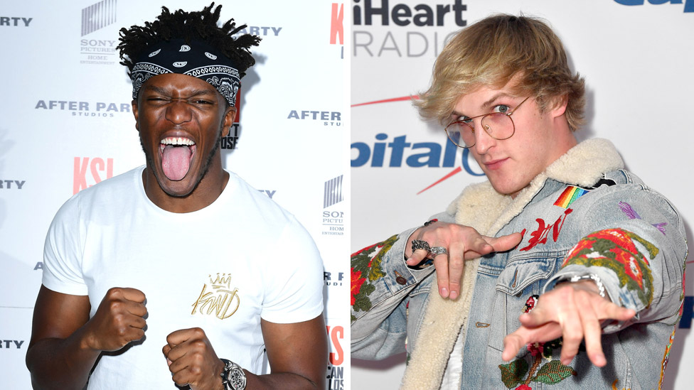 KSI (left) and Logan Paul