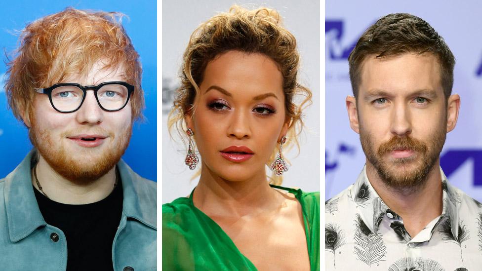 BBC News - Ed Sheeran, Rita Ora and Calvin Harris jump up Sunday Times Rich List