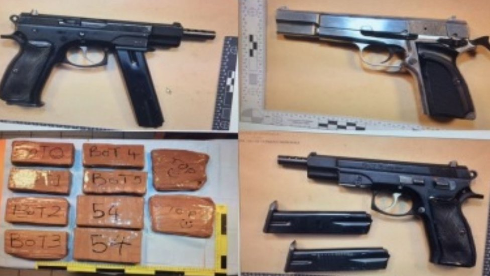 Border officer caught smuggling drugs and guns
