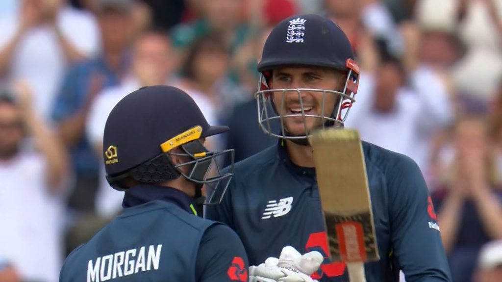 Watch: England break ODI record with 'huge' Hales six