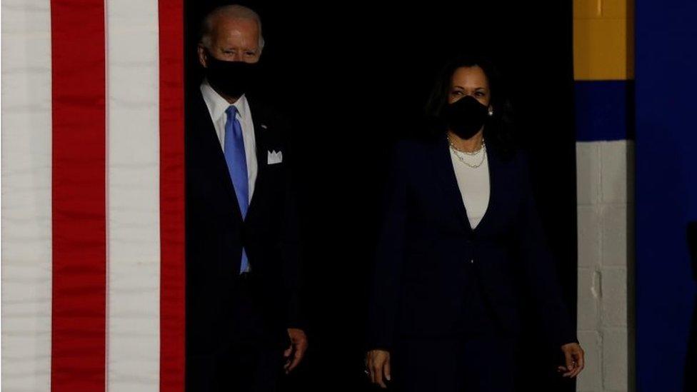 Joe Biden And Kamala Harris Say Trump Has Left Us In Tatters Bbc News