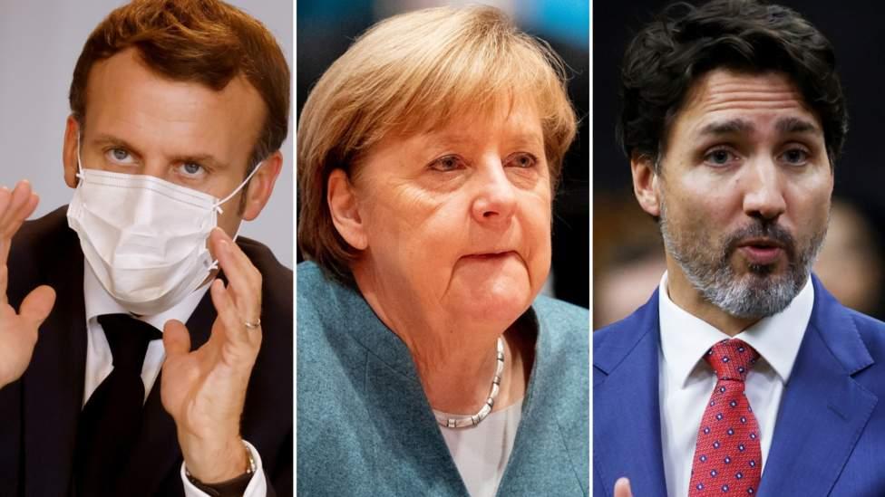 Macron, Merkel dan Trudeau