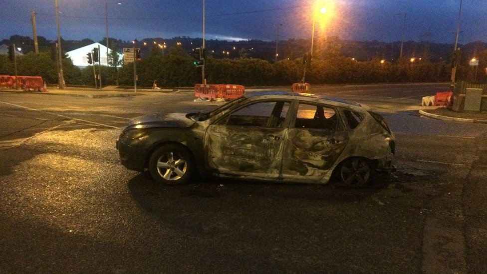 Car burnt out in Dundonald