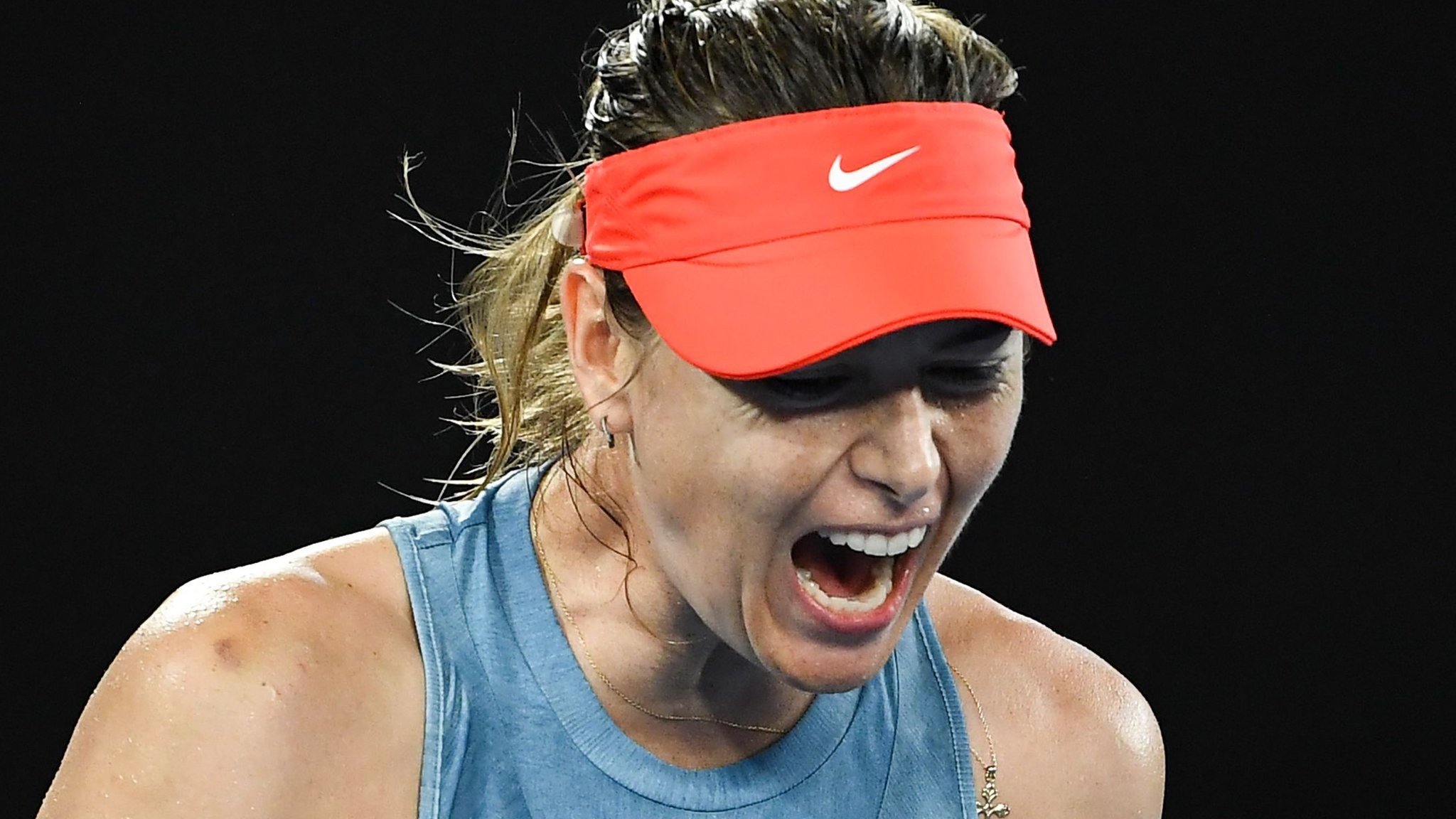 'Really rewarding win' - Sharapova beats champion Wozniacki