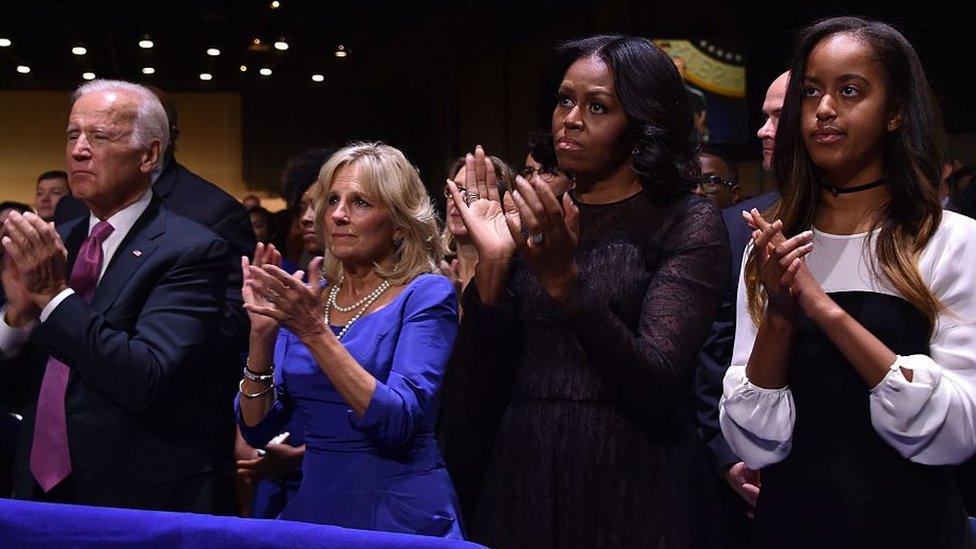 Joe Biden y Michelle Obama