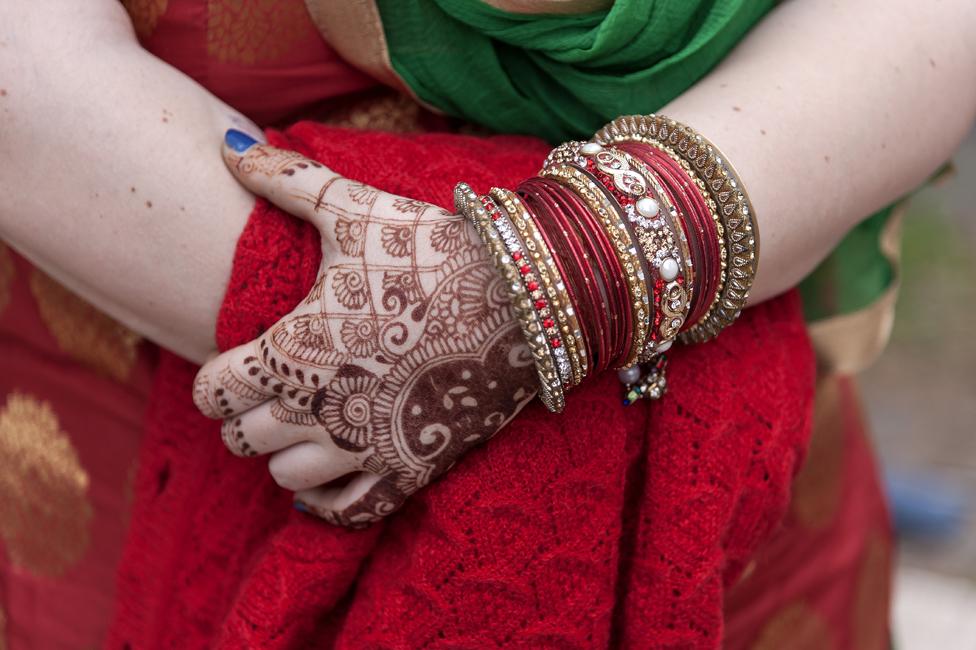 Una mujer Sikh