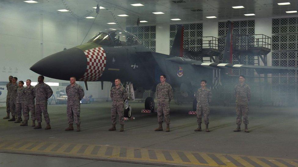 US airmen at RAF Lakenheath
