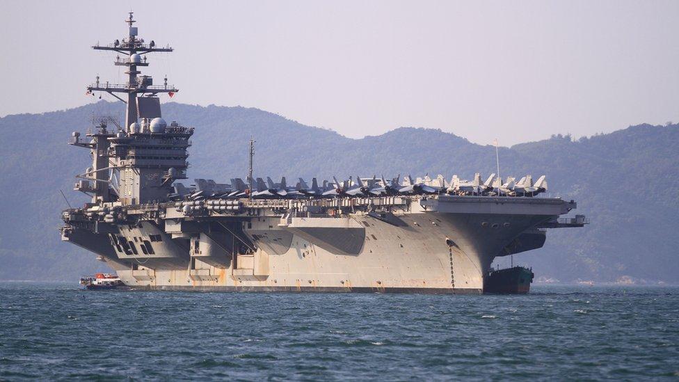 Cómo es el portaaviones nuclear Carl Vinson y qué mensaje envía Estados  Unidos a China con su histórico paso por Vietnam - BBC News Mundo