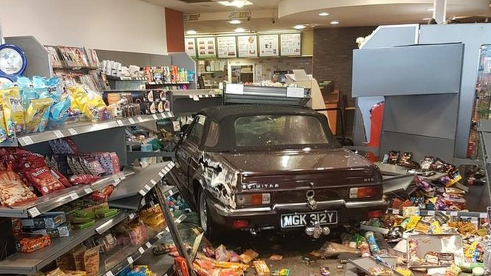 Sports car crashes into Subway at Dover service station