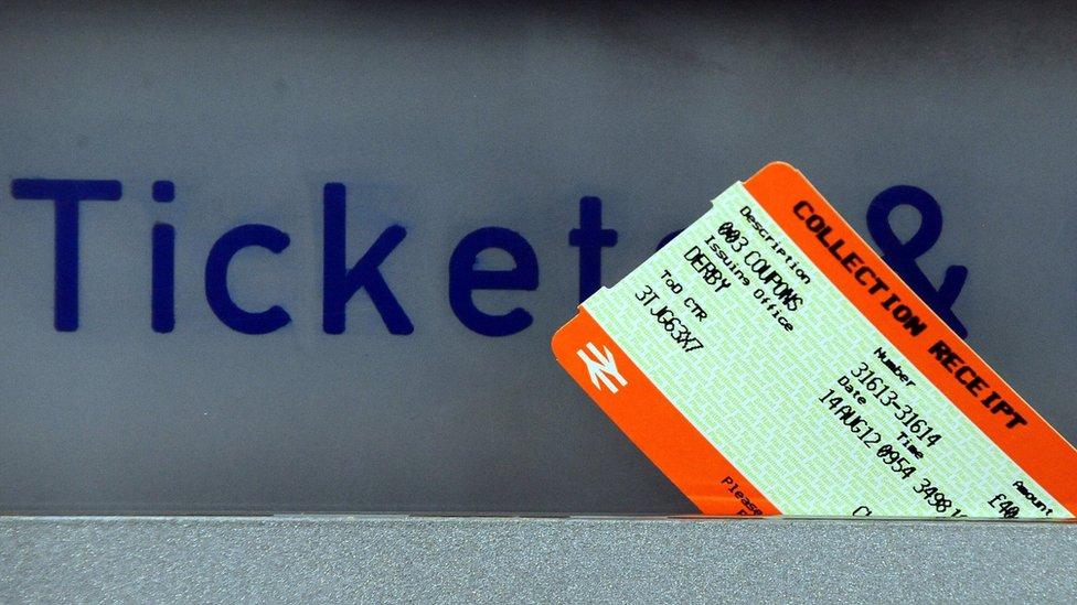 Ticket in machine