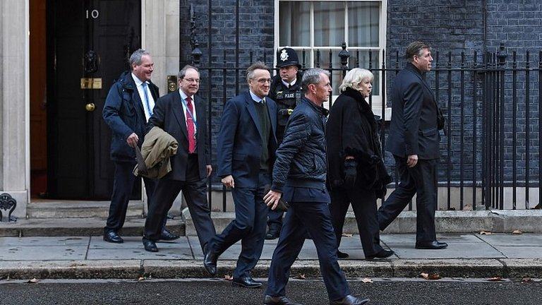 Brexit: Theresa May meeting MPs 'to seek consensus'