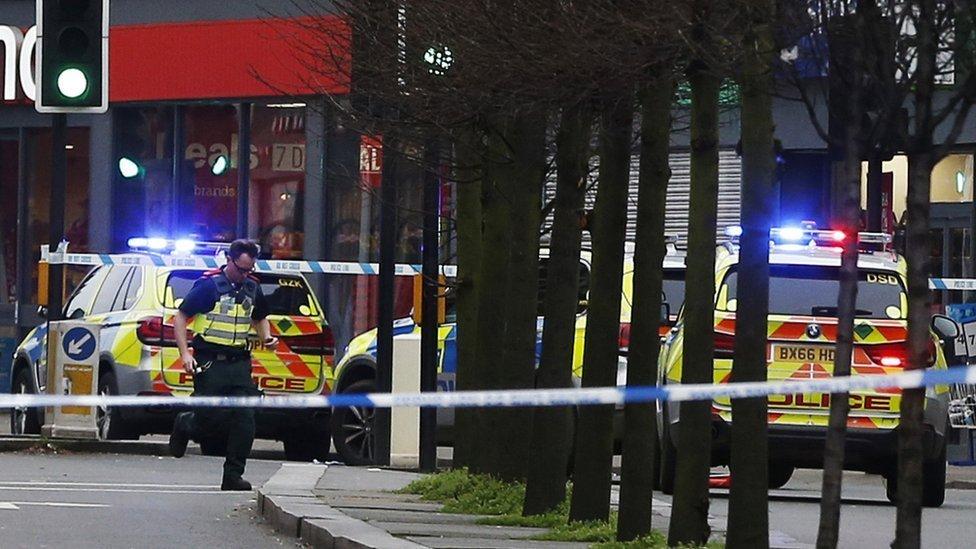 Policía en Streatham