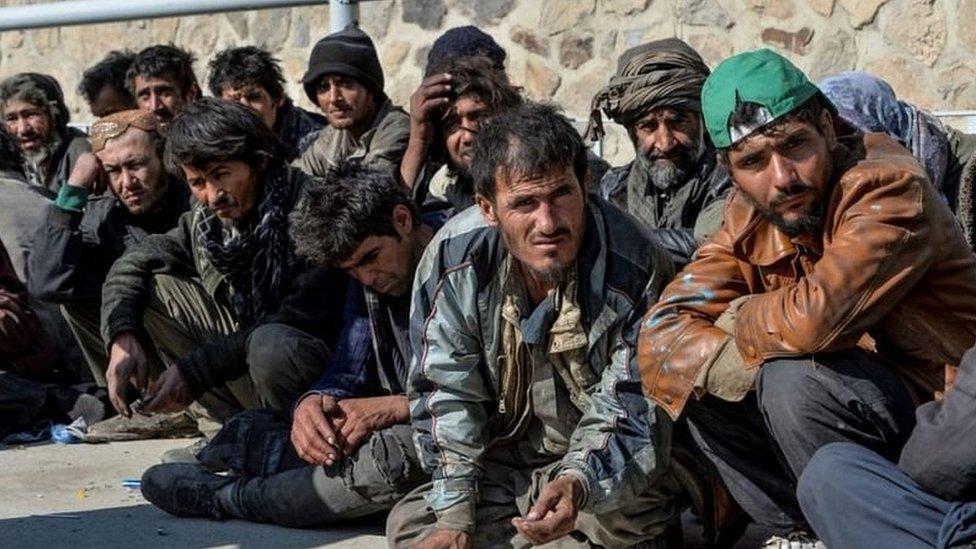 Personas con adicción en Kabul