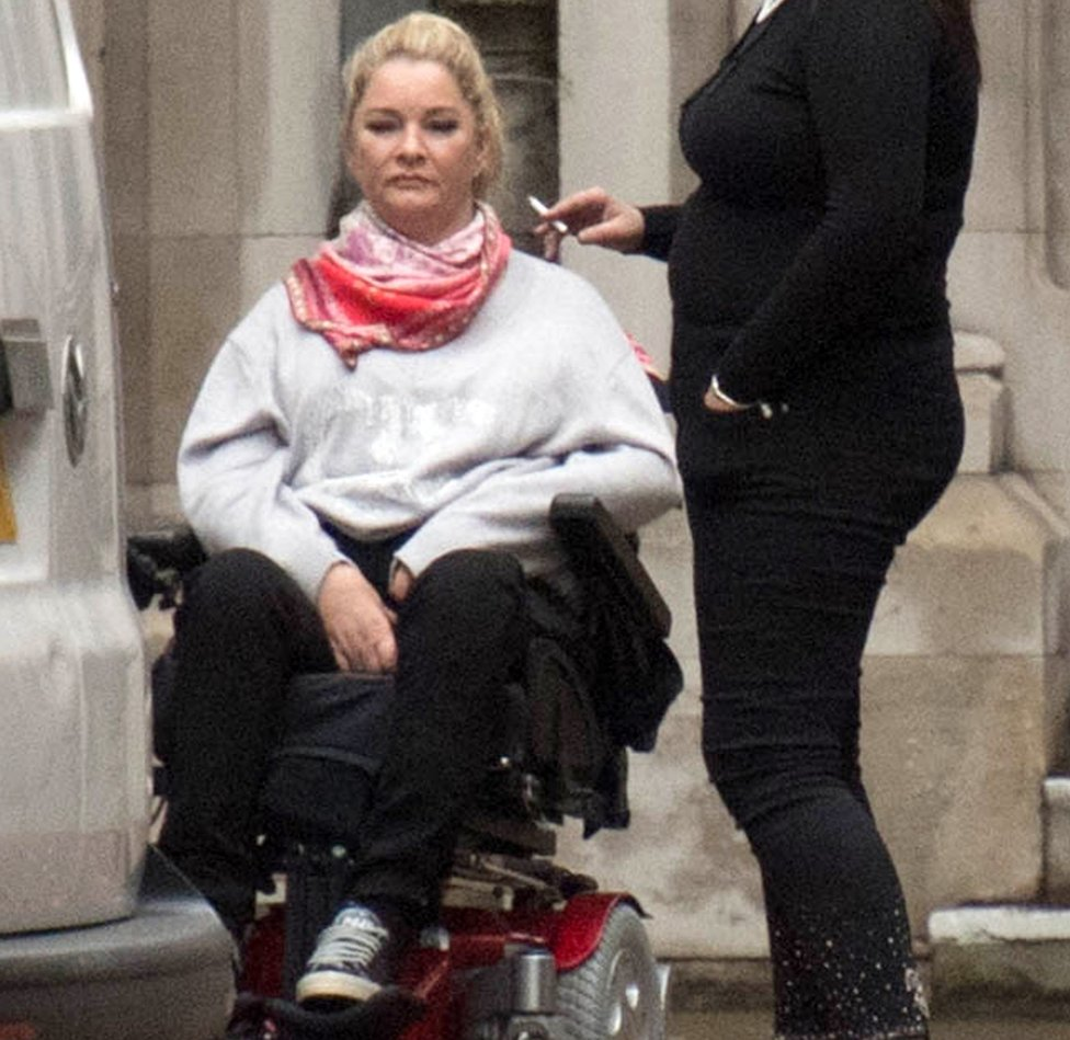 Claire Busby outside court