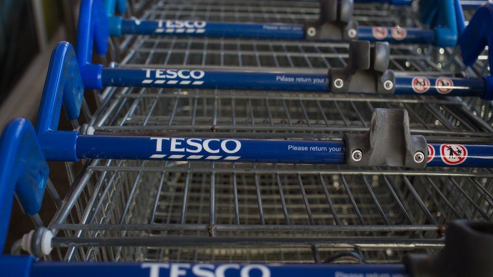 Tesco trolleys