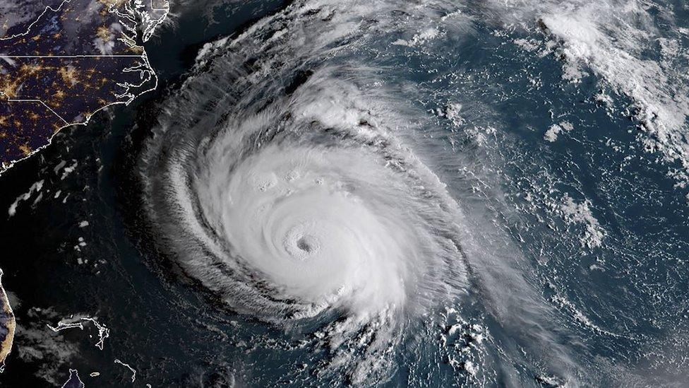 Satelitski prikaz uragana 12. septembra