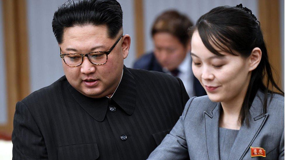 Kim Jong-un ve kızkardeşi Kim Yo-jong