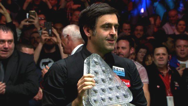Ronnie O'Sullivan holds the Masters trophy