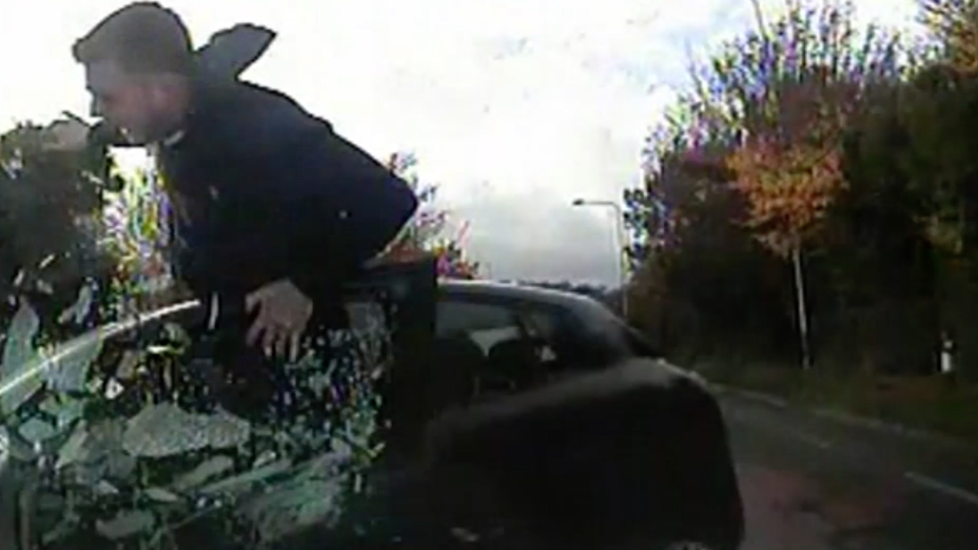 Police ram car thief in East Sussex