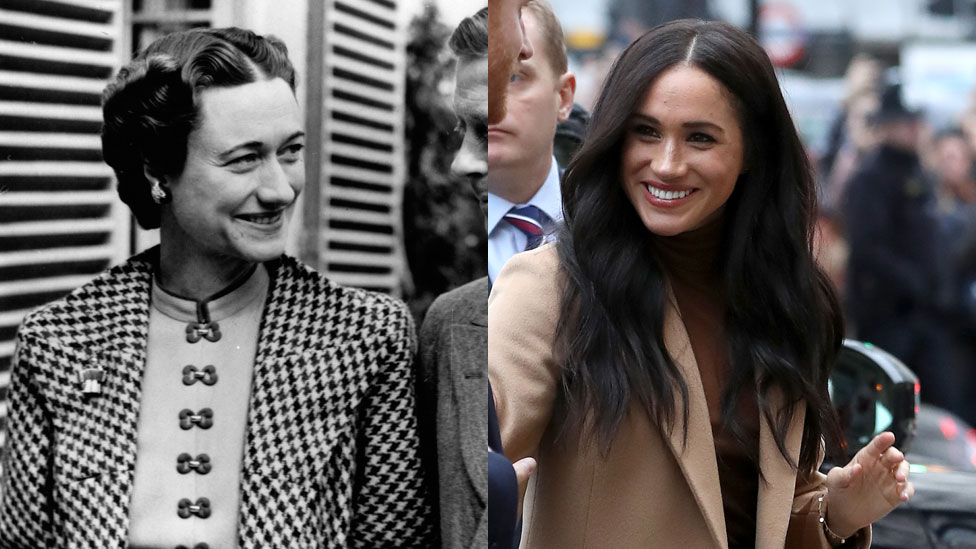 Wallis Simpson y Meghan Markle