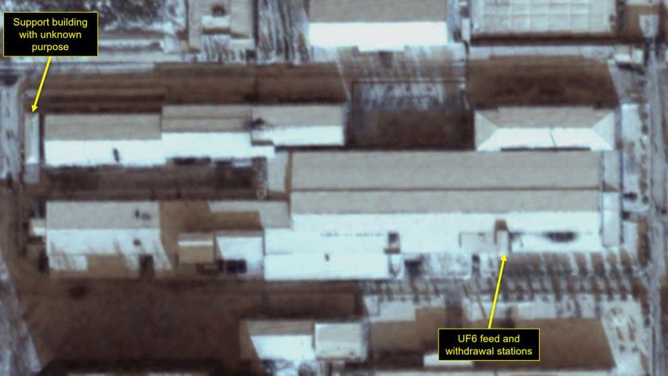 A satellite image of the Yongbyon nuclear complex