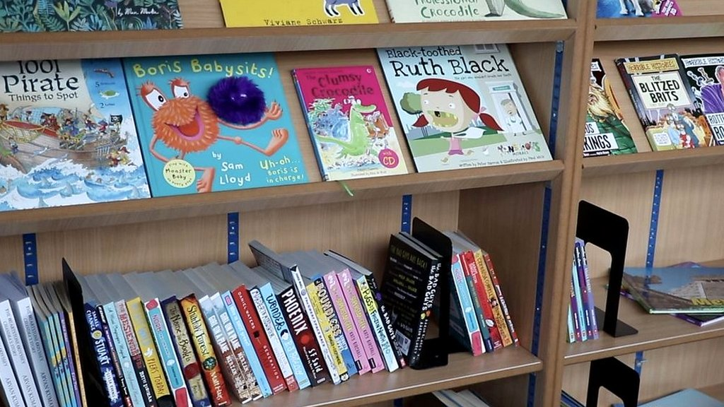 County Durham students welcome library-on-wheels