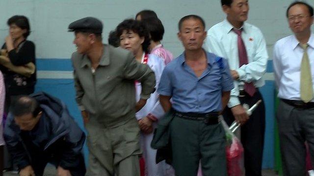 People in Pyongyang