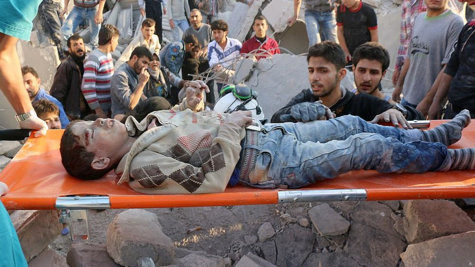 صورة أرشيفية من الحرب السورية