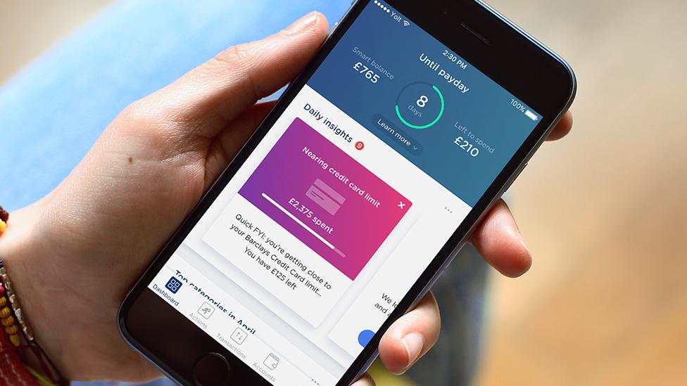 Smartphone showing Yolt money management app