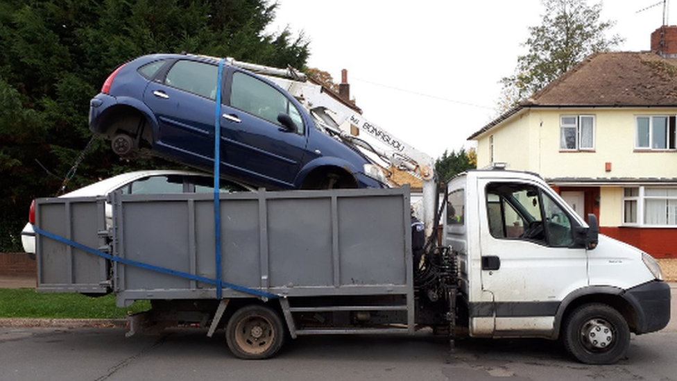 Overloaded van stopped by police in Peterborough