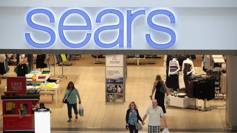 Sears store with shoppers