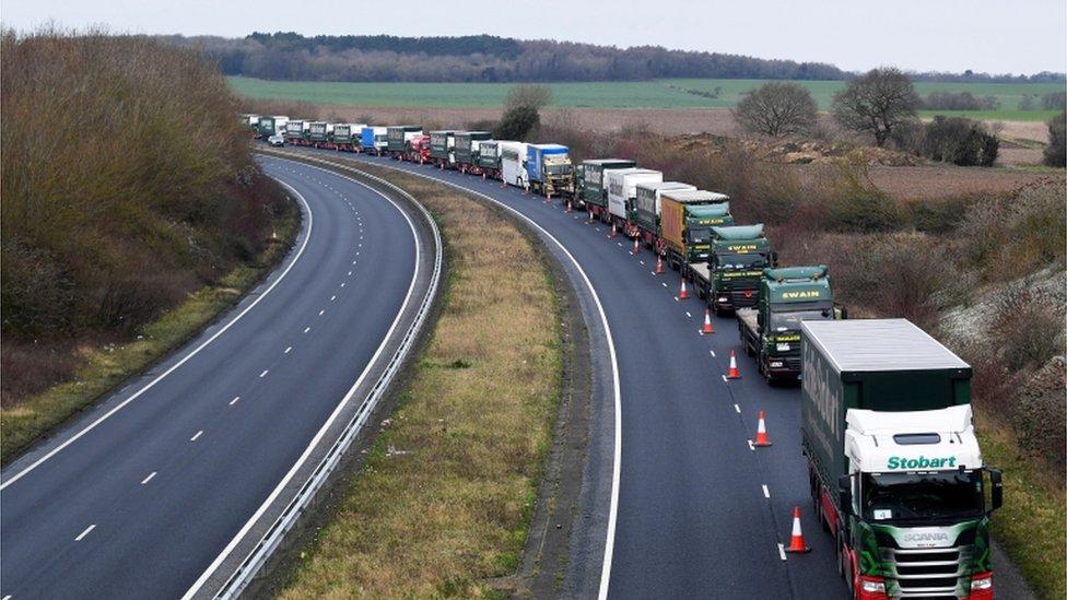 Lorries in Kent