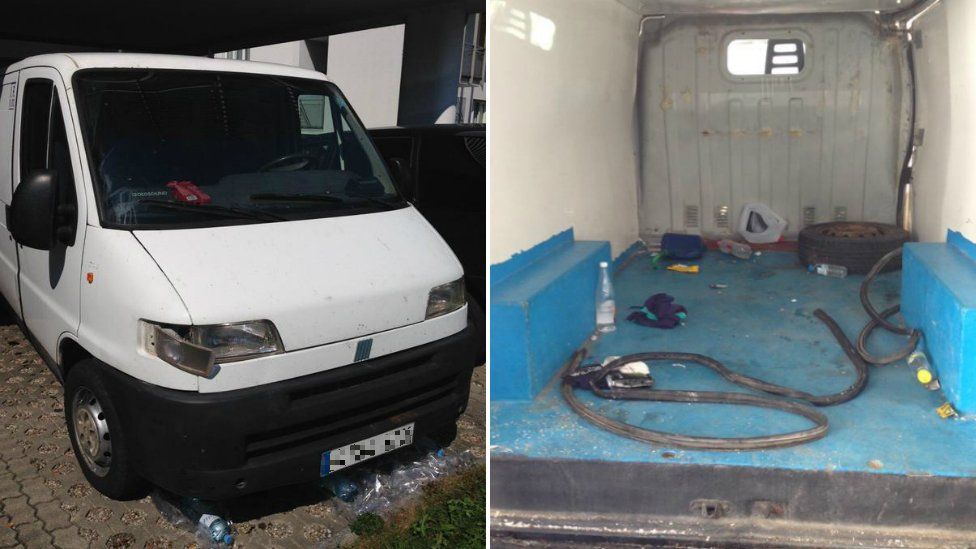A van that was carrying 26 migrants through Austria - 30 August 2015