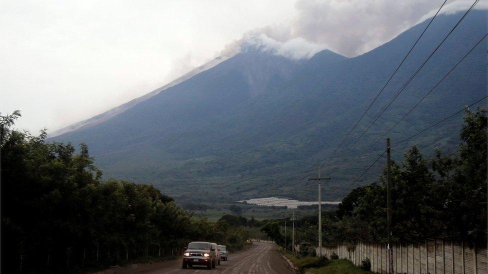 Erupción del Volcán de Fuego.