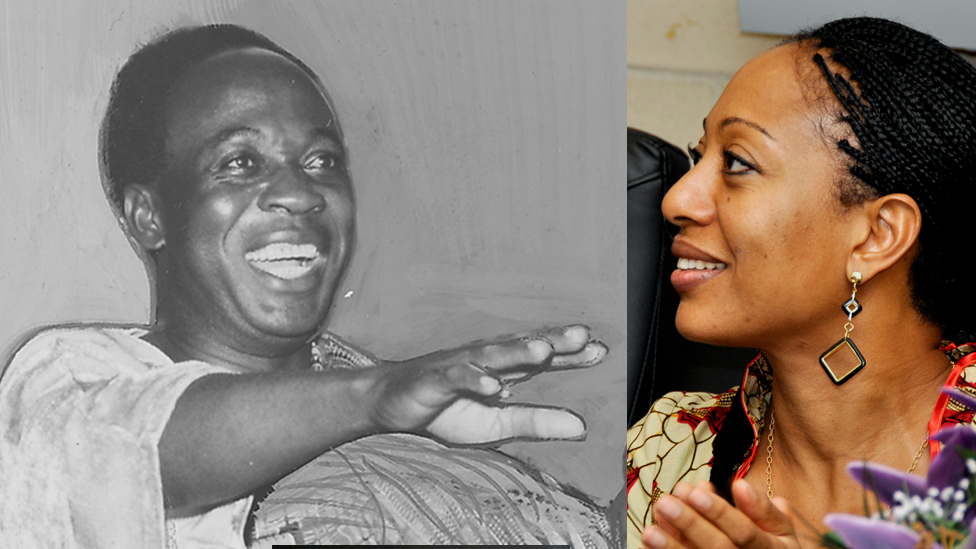 Kwame Nkrumah y su hija Samia