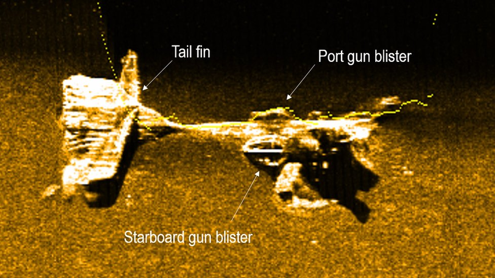 DAERA released a high-resolution side-scan sonar image of the aircraft