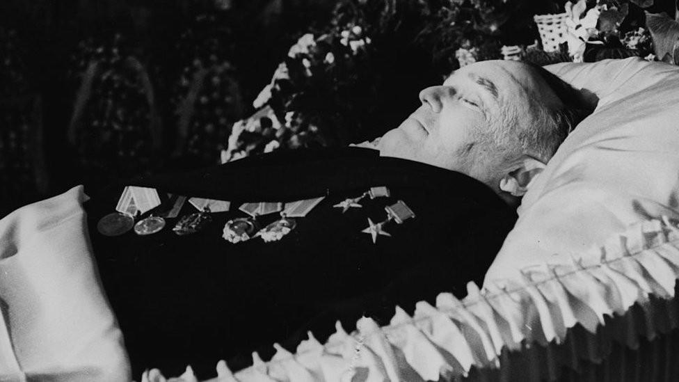 Korolev lying in state
