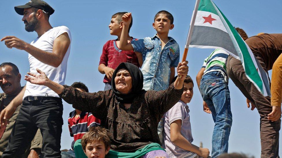 Sirijski demonstranti