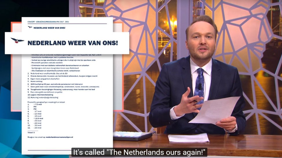Lubach's video on Geert Wilders has attracted 1.28m views