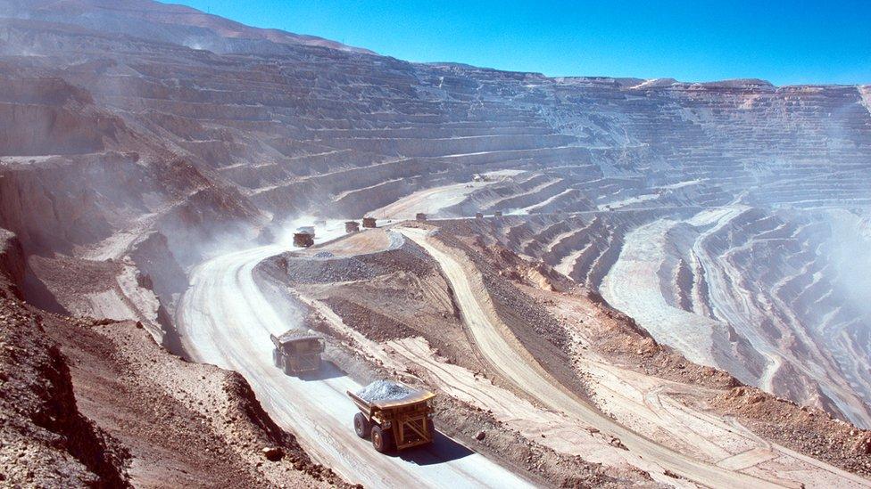 Mina en el norte de Chile