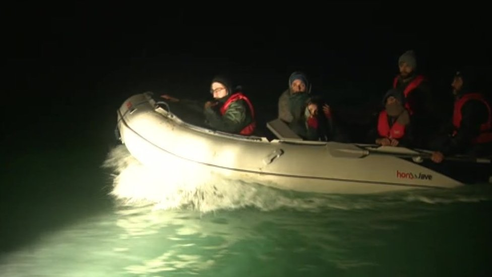 Migrant boat located in English Channel off Kent coast