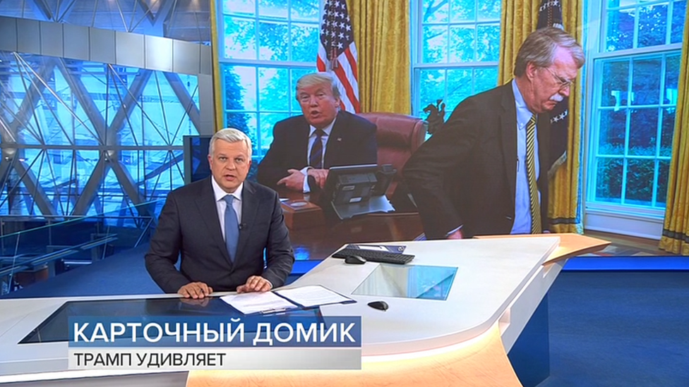 Screenshot from Russian state TV