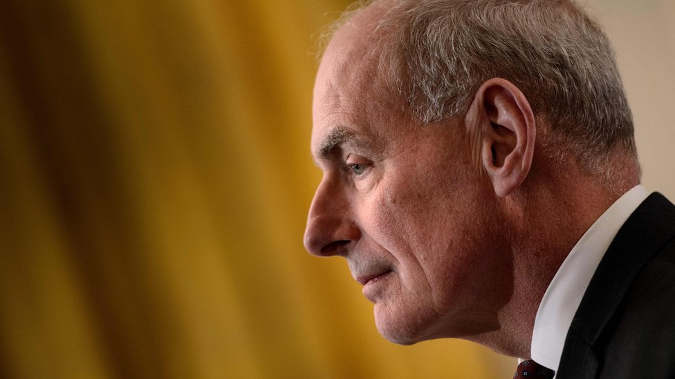 John Kelly, looking into the distance