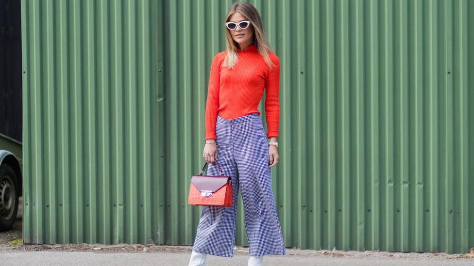 Blogger wearing cullottes