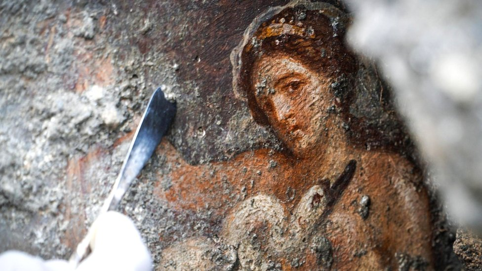 Pompeii dig reveals erotic Leda and Swan fresco